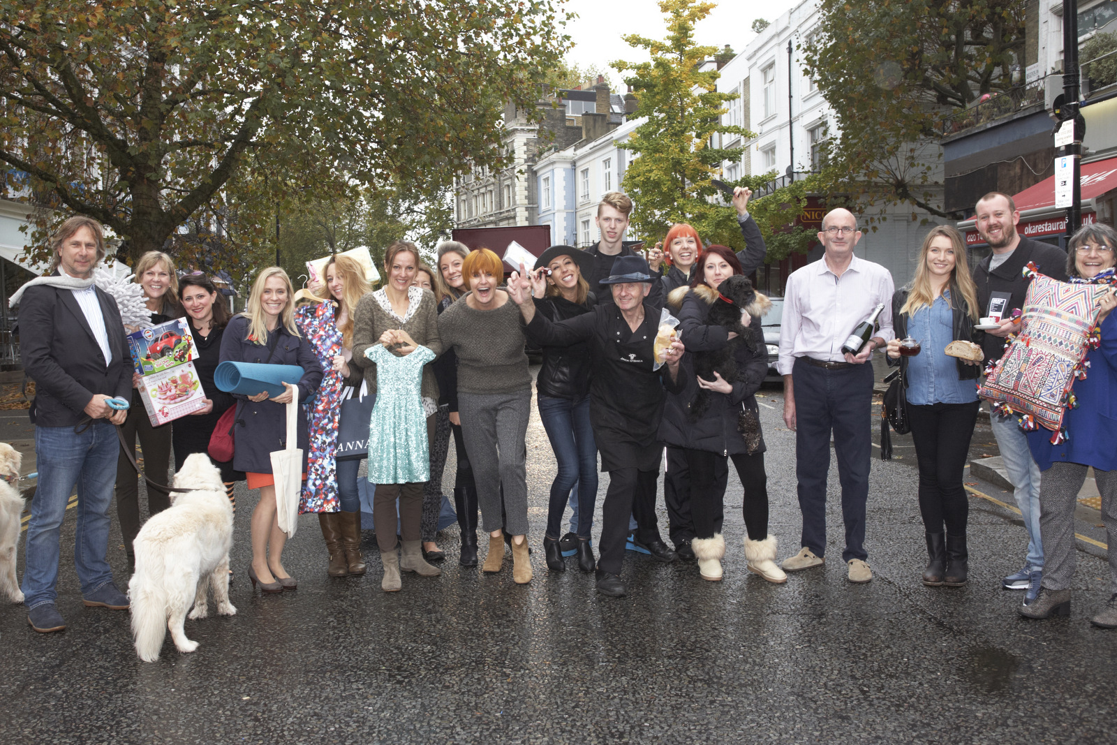 Mary Portas and local Primrose Hill traders
