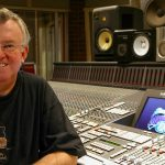 John Hudson at mixing desk