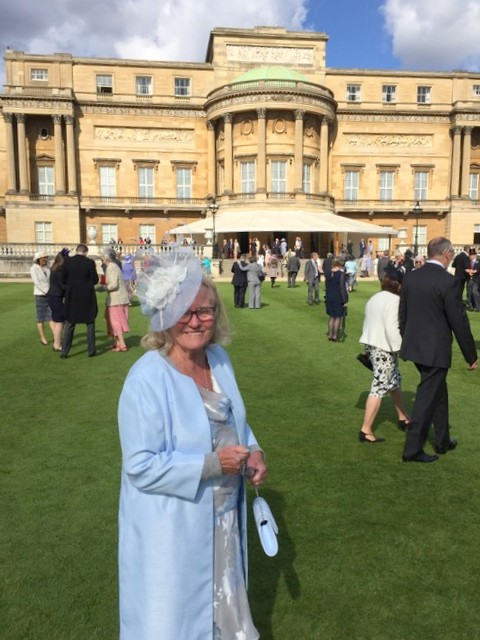 Sue Hadley at Buckingham Palace