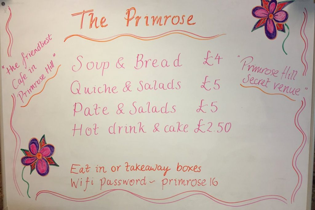 Pop-up Cafe at the Primrose Hill Community Centre