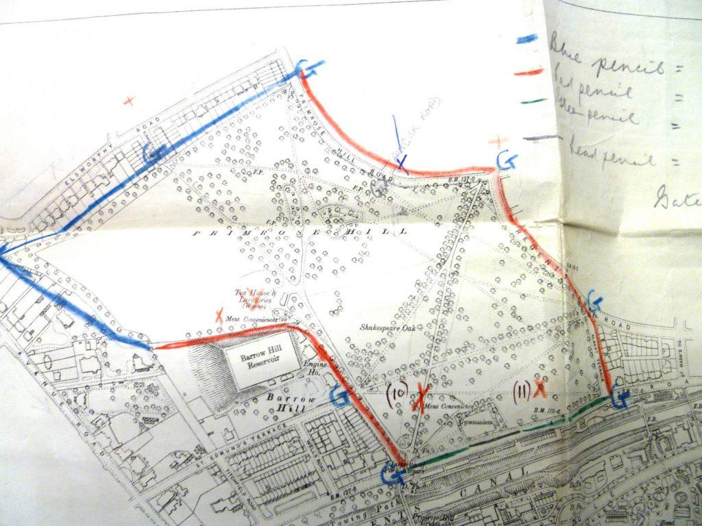 Primrose Hill tea room map