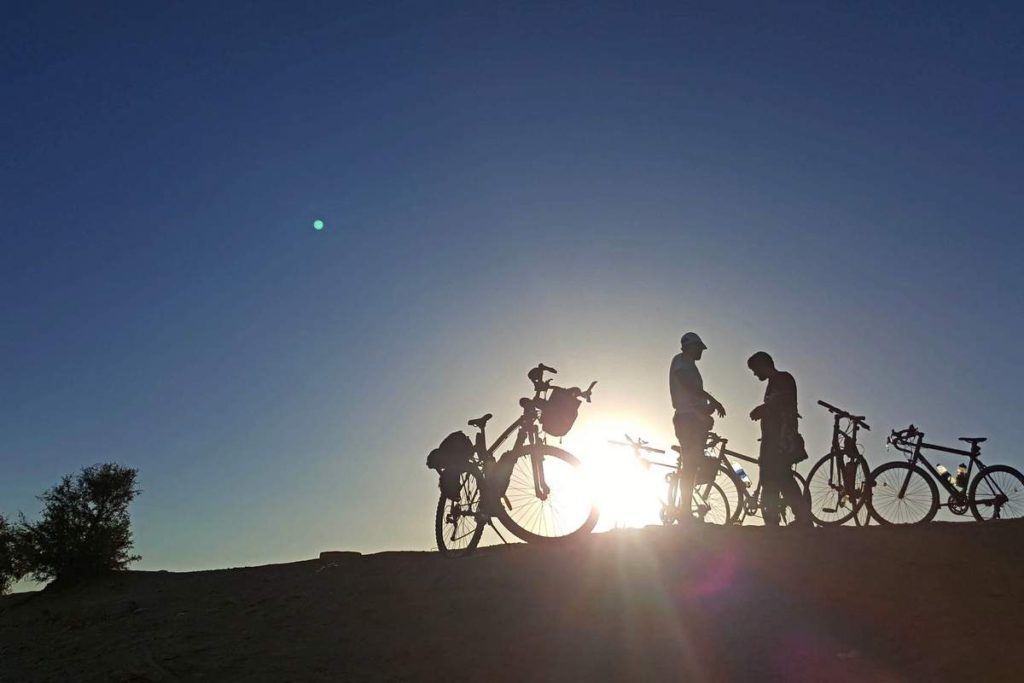 Bicycles on the hill