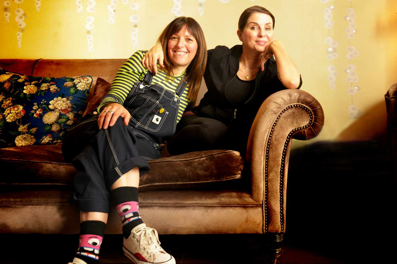 Sadie Frost and Frances Dove