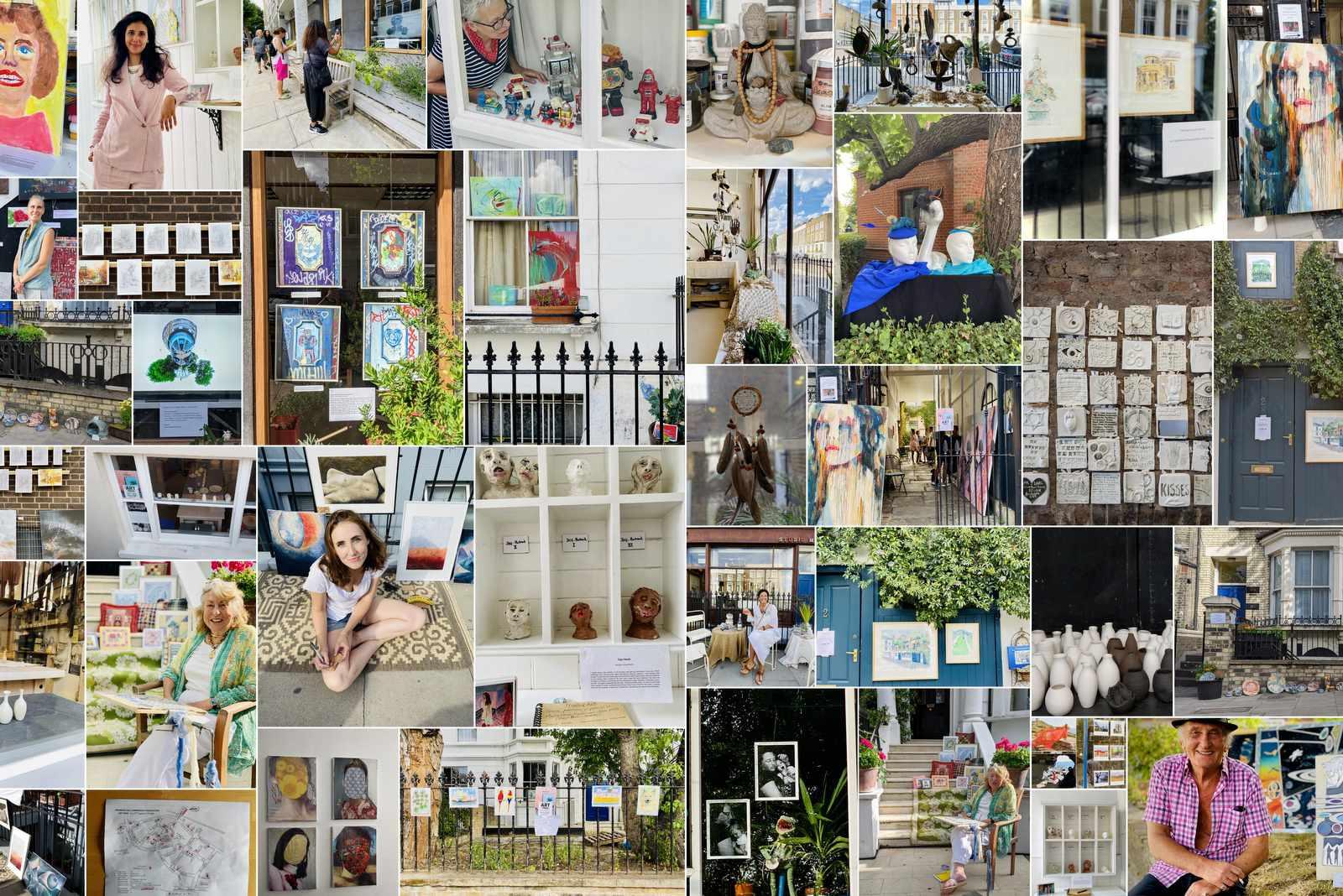 Primrose Hill Art Trail 2020 photos