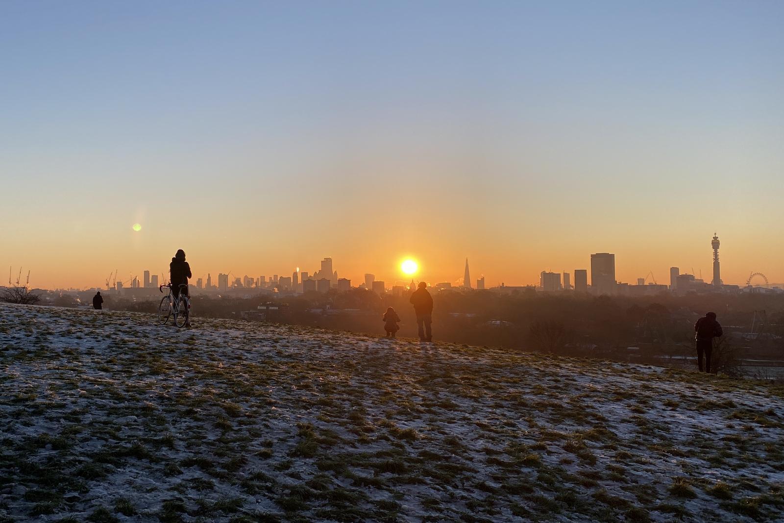 Sunrise over Primrose Hill